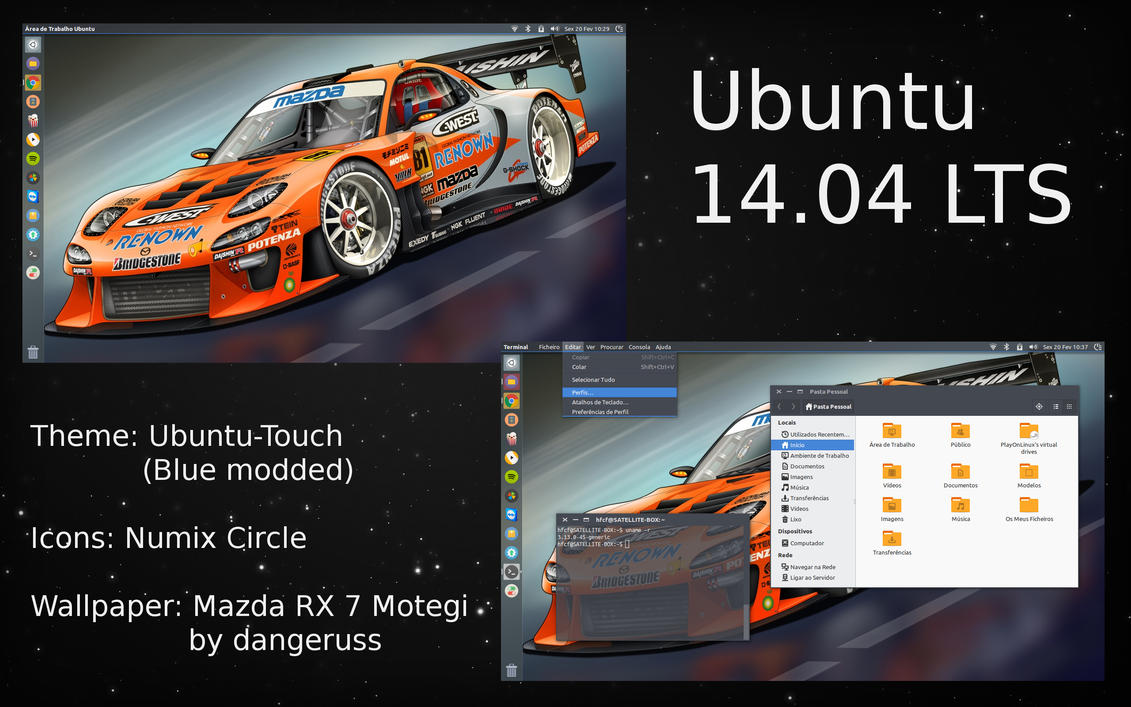Ubuntu Desktop by hfcf