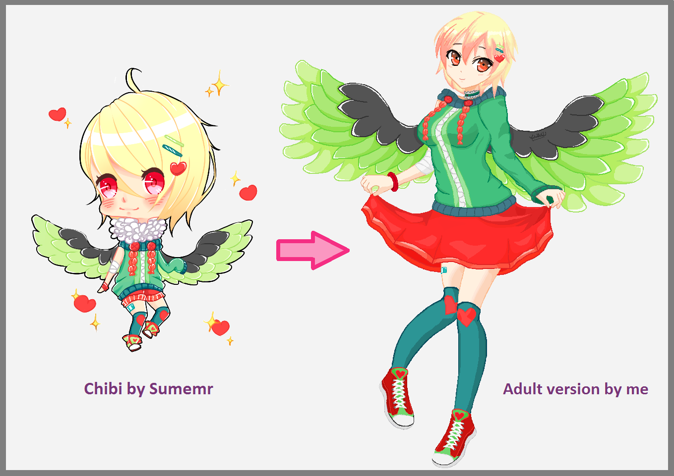 how to make cute anime wings