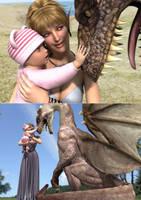 It encounters the dragon. by yukitan