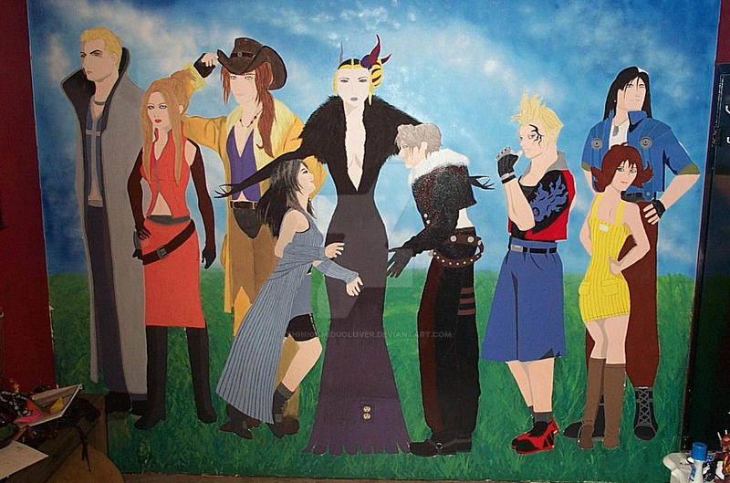 Final Fantasy VIII Mural by ShinigamiDuoLover