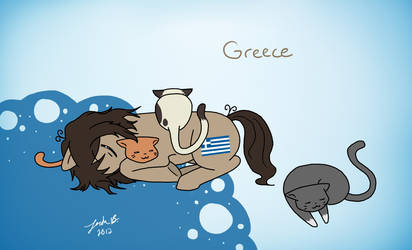 My Little Hetalia: Greece by Cisol