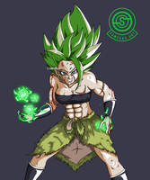 [DragonBall] Kale Ssj in new Broly outfit by MrSawyer10