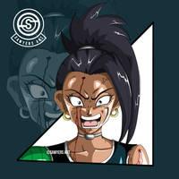 [DragonBall] Kale Face Art by MrSawyer10