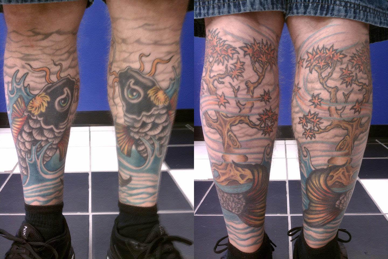 tattoo twin black koi fish by thegreatscottharris on