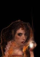 sita with glowy candle for ram by bigmistry