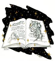 Day 01: Aconite / Grimoire by SkyJynx