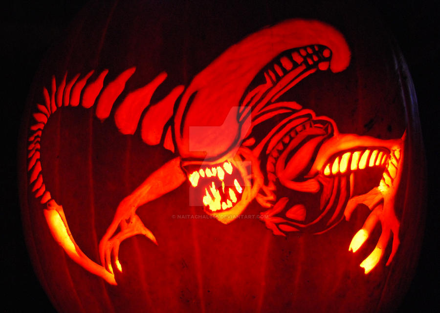 Alien pumpkin by naitachal on deviantart