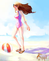 Beach  Zelda by Zeighous