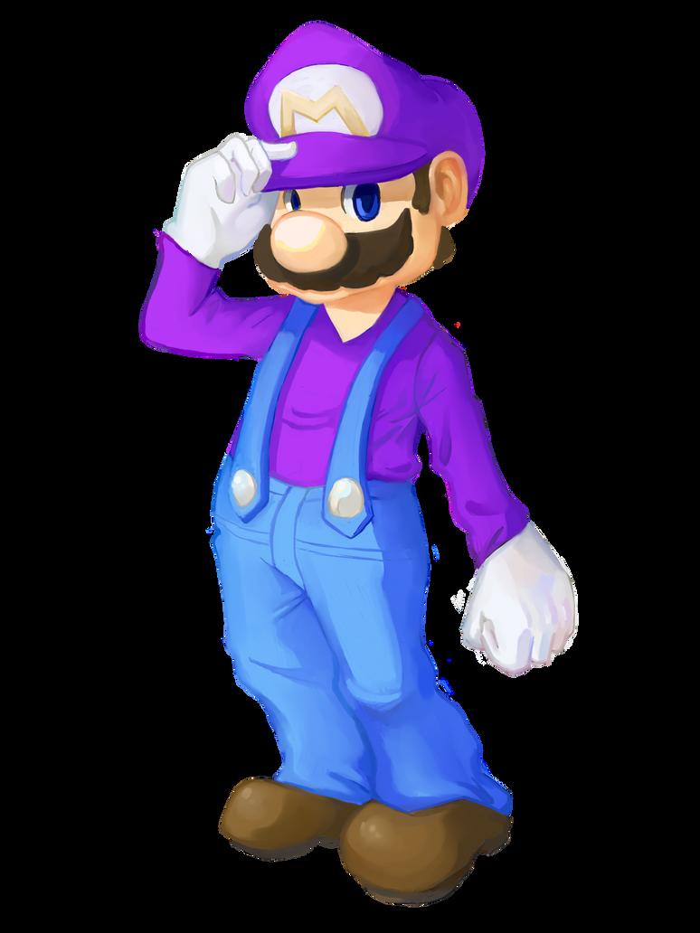 Purple Alt Mario by ApplFruit