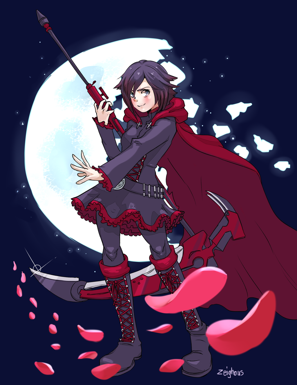 Rwby ruby rose by zeighous on deviantart - Rwby ruby rose fanart ...