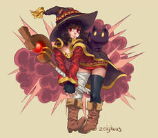 Megumin - EXPLOOOOSION by Zeighous