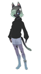 Goth Cat Girlfriend by Zeighous