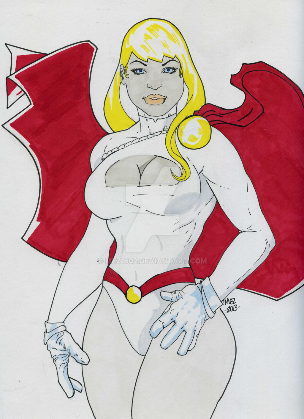 Power Girl colored by mez1602