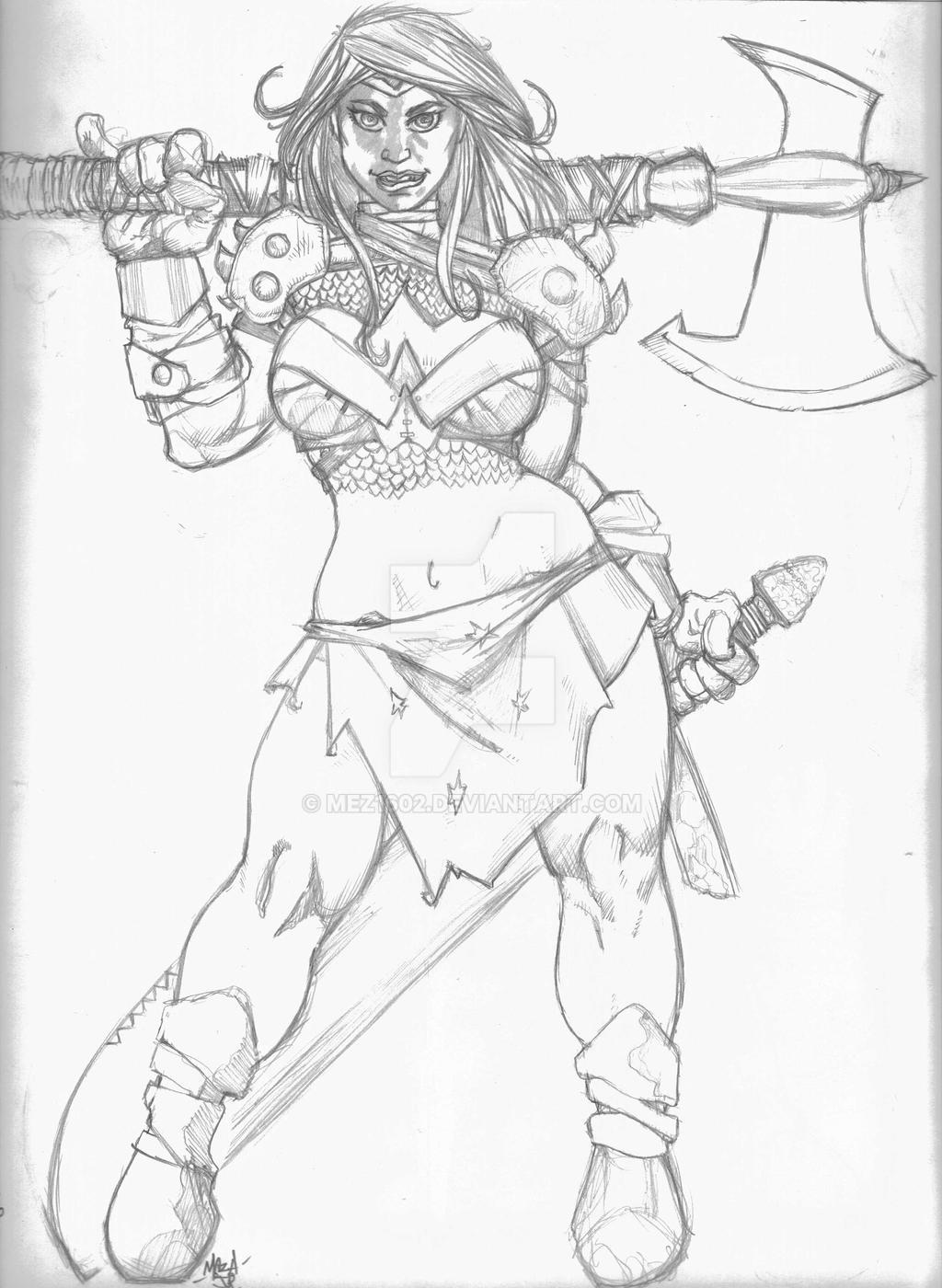 WW Warrior sketch by mez1602