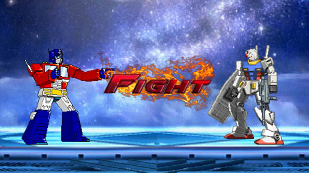 Optimus Prime vs. Rx-78-2 Gundam FIGHT by 8670310