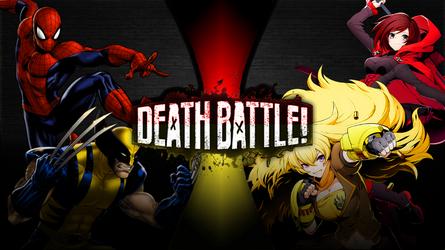 Death Battle Spider-Man,Wolverine vs. Ruby,Yang by Bluelightning733