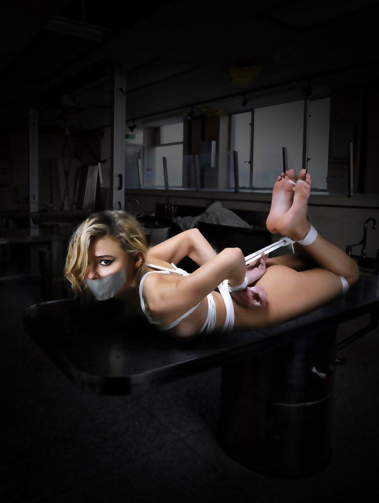 Illustration for Chloe Moretz in her bondage by aeia93x