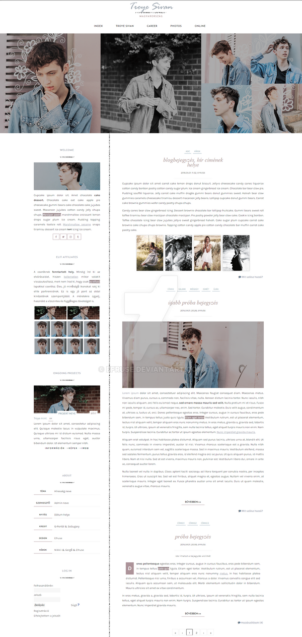 Troye Sivan Layout by Efruse