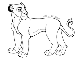 Free to Use Lioness Lines by RussianBlues