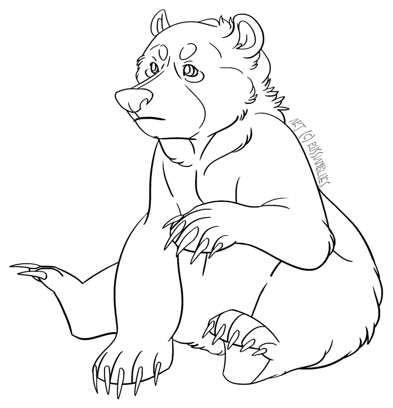 free to use bear lineart by russianblues on deviantart rh deviantart com teddy bear line art teddy bear line art