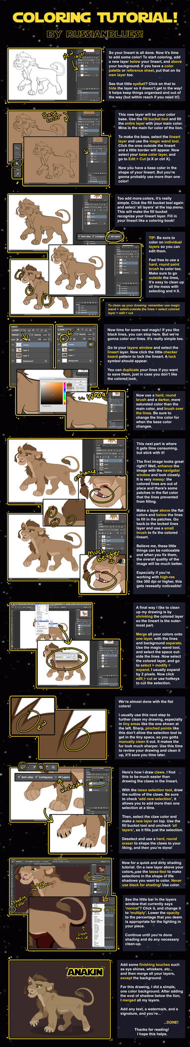 Digital Coloring Tutorial by RussianBlues
