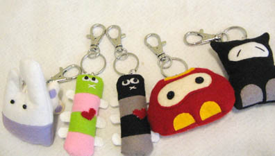 Gingkun keychains by gingkun