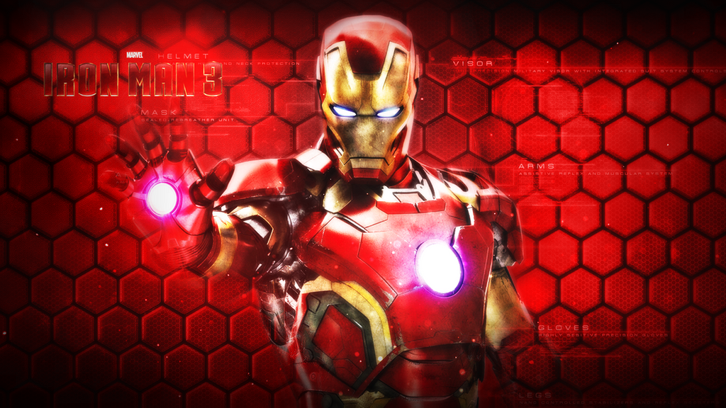 iron man 3 wallpaper by momenaly on deviantart