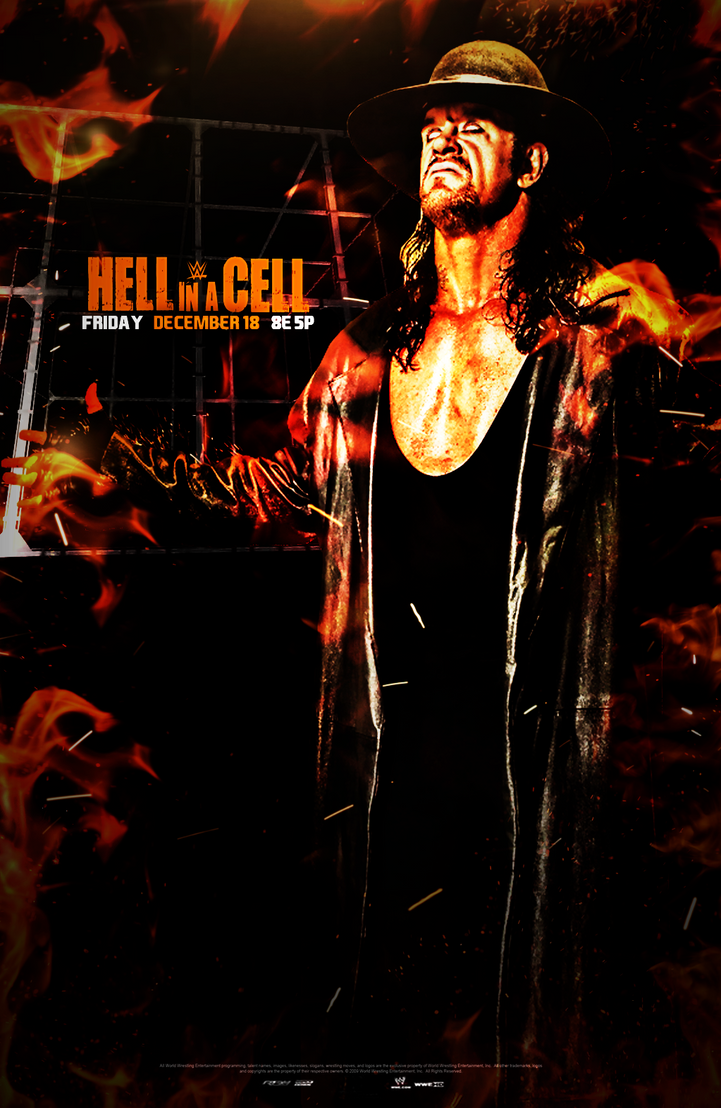 WWE Empire Hell In A Cell 2015 Poster by Momen-Aly