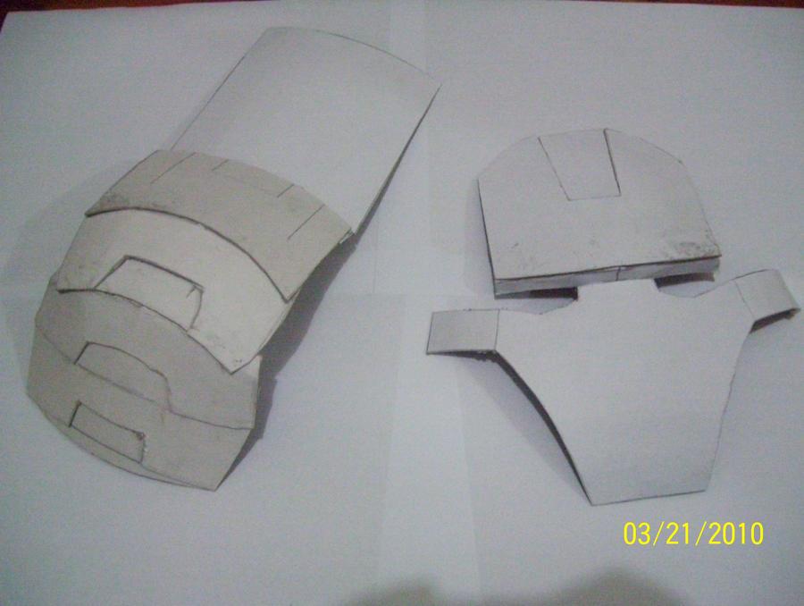 Видео как сделать маску из бумаги железного человека