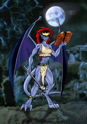 Demona and the Necronomicon by KaiSilvermane