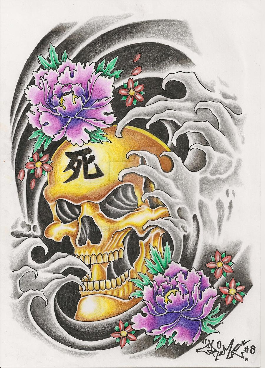 oriental tattoo design by crimeskull on deviantart