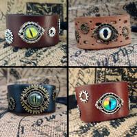 Dragon eye cuffs