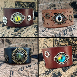 Dragon eye cuffs