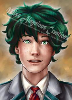 Izuku Midoriya Realistic Portrait