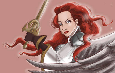 Gisela, Blade of Goldnight by sketchy-doodles