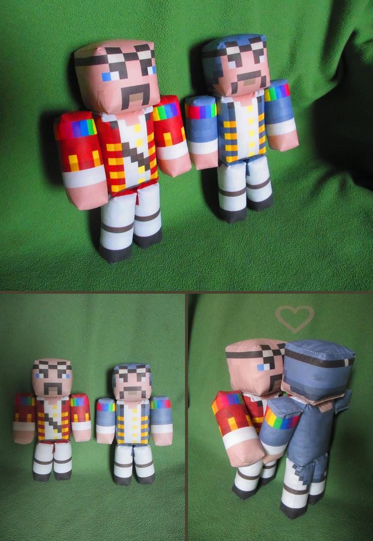 Lysander and Jasper plush dolls by ZuperZora89