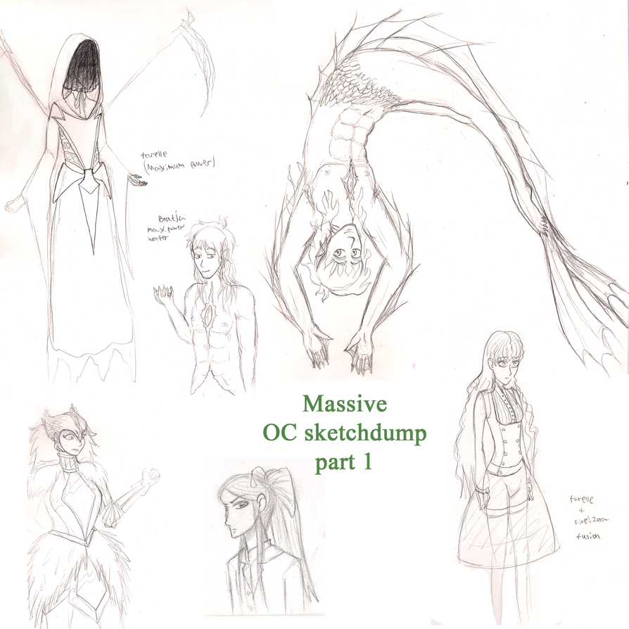 Massive OC sketchdump part 1 by ZuperZora89
