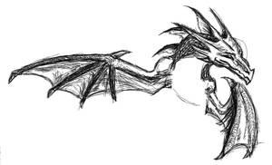 PChat Random Dragon Sketch
