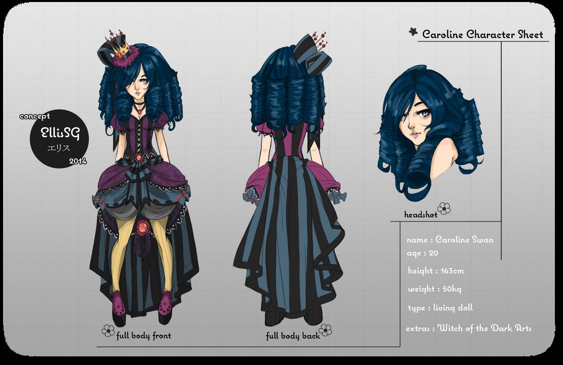 Caroline Character Sheet by EllisSG