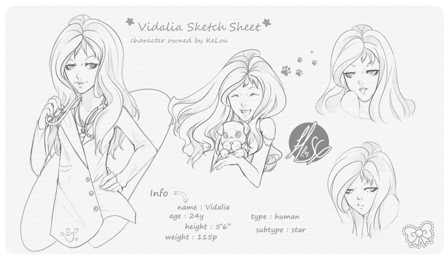 Vadalia Sketch Page |COM| by EllisSG