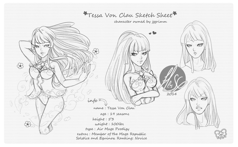 Tessa Von Clau Sketch Page |COM| by EllisSG