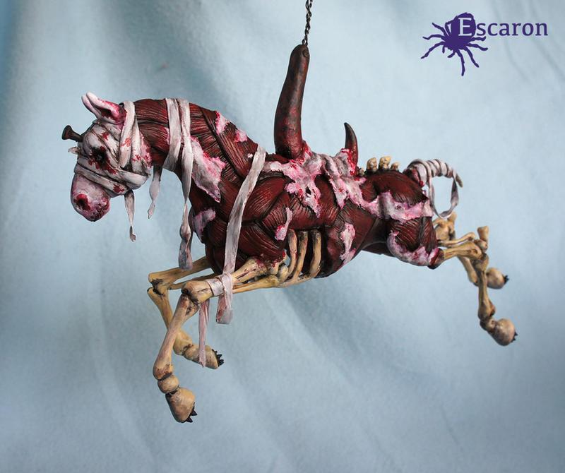 Silent (Hill) Carousel - Sculpture by Escaron