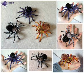 Tarantula Party - Sculptures by Escaron