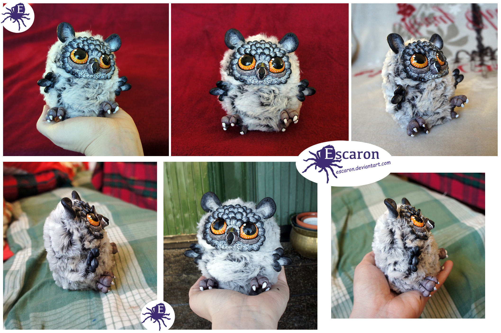 Everywhere Owl - OOAK Doll (SOLD) by Escaron