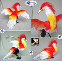 Bird of Flame - Posable Doll (SOLD) by Escaron
