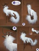 Uniqorn Winter - Semi Posable Art Doll (SOLD) by Escaron