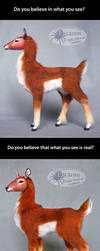 The Doe: Blindfolded - Posable Art Doll by Escaron
