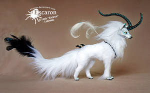 Spirit Wolf - Art Doll by Escaron