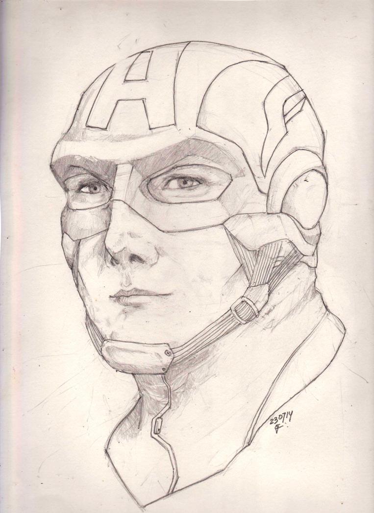 Captain America Head Sketch By Gioscalv On DeviantArt