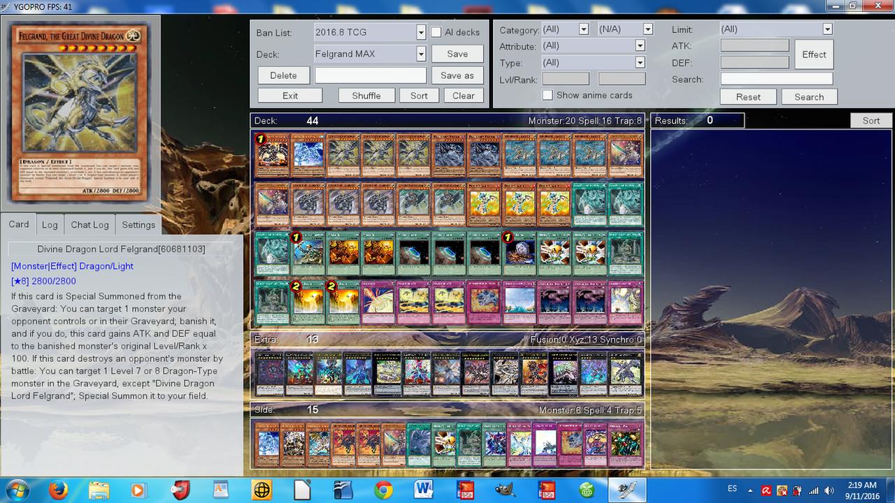 Yu Gi Oh Archetype Profile Deck Felgrand By Dragonhero15